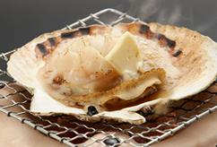 天然ホタテ貝殻焼き